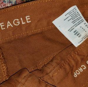 American Eagle Rust kegging wide leg crop